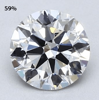 round diamond with 59% table