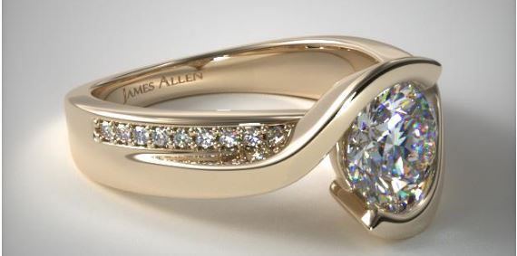 Bypass Tension Setting Engagement Ring