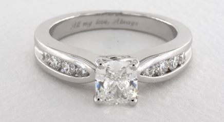 Bow-Tie Channel Set Diamond Engagement Ring