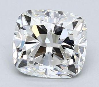 chunky cushion cut diamond
