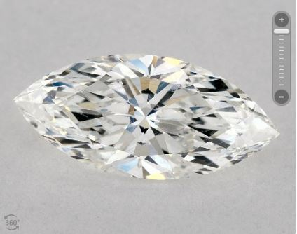 Eye-clean SI1 Marquise Diamond from James Allen