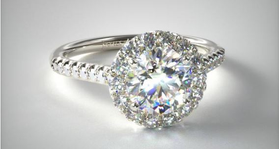 Halo Engagement Ring for $10,000