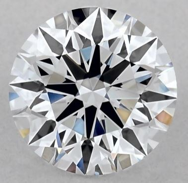 one carat round lab created diamond