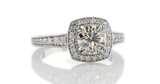 1.50ct Halo Engagement Ring