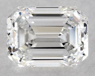 Lab-created emerald cut diamond