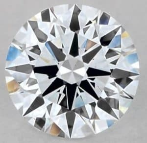 colorless lab-created round diamond