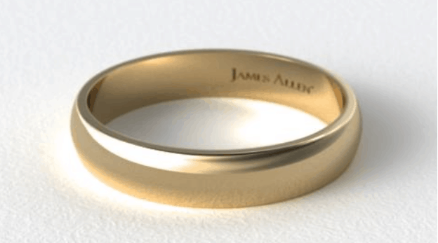 Traditional Slightly Curved Wedding Ring