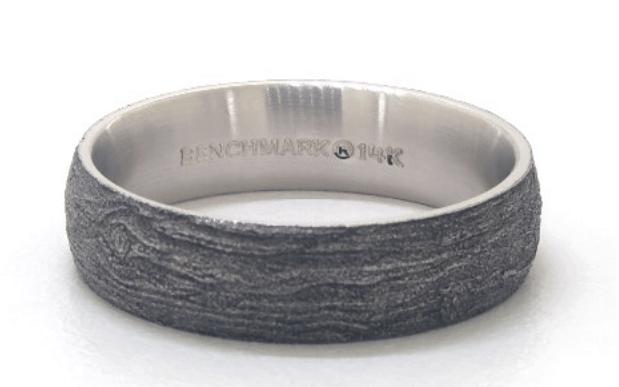 blackened Log Knot Pattern Comfort Fit Ring