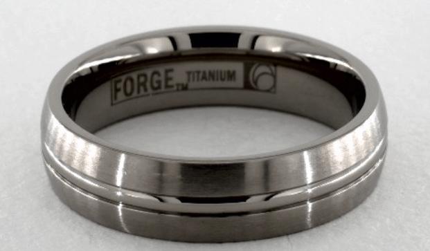 Titanium Comfort-Fit Wedding Ring