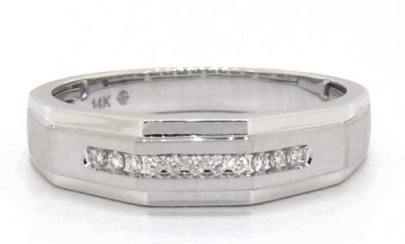 Geometric Channel Set Diamond Ring
