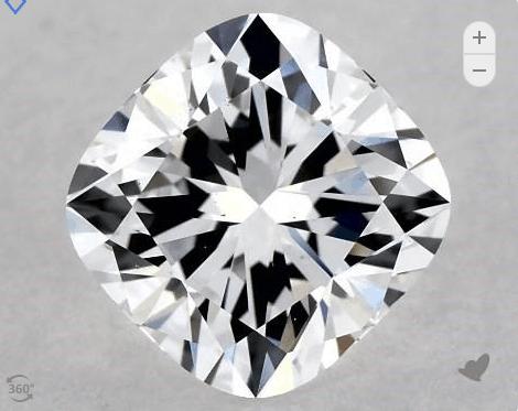Lab-Created Diamond cushion diamond