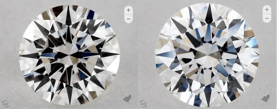 D/H color diamond comparison