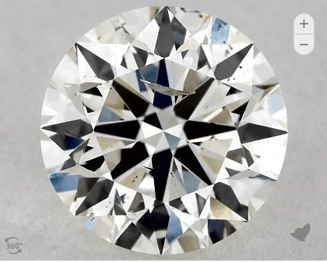 I1 Diamond from James Allen with visible inclusions