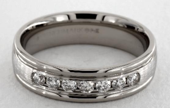 Channel Set Diamond Wedding Ring for Men