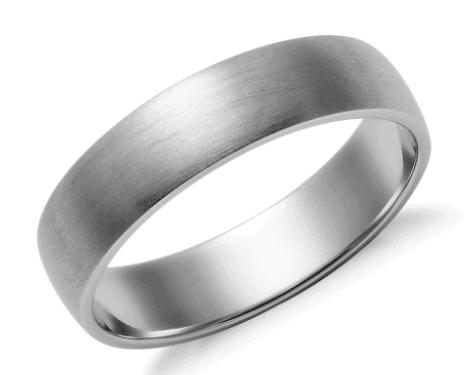 Matte Classic Wedding Men's Ring