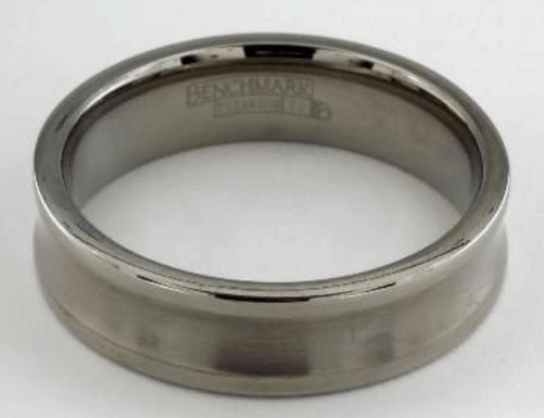 Titanium 6mm Comfort-Fit Satin-Finished Concave Design Men's Ring