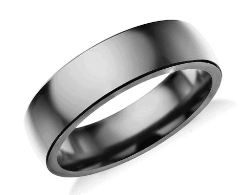 Low Dome Comfort Fit Men's Wedding Ring in Tantalum