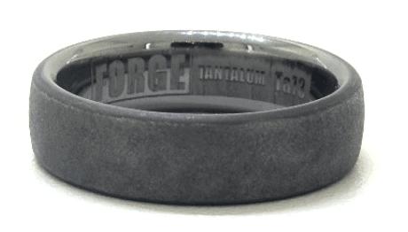 Tantalum Swirl Finished 6.5mm Comfort Fit Men's Ring