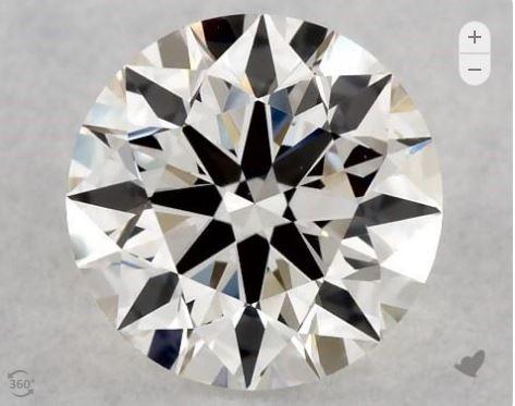 Eye-clean VS2 diamond