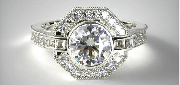 vintage ring from james allen