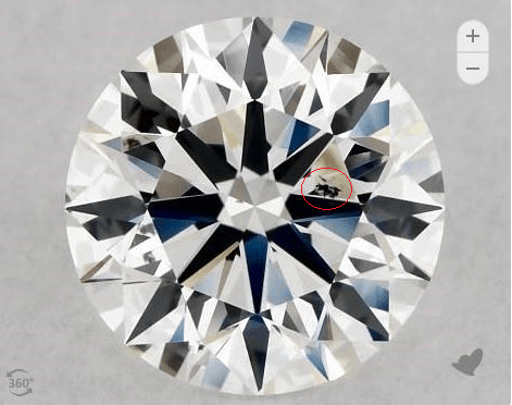 SI2 diamond with obvious inclusions