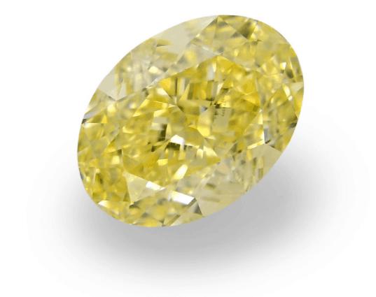 Natural Yellow Oval diamond