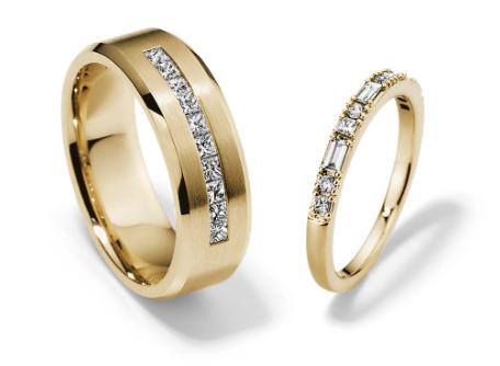 Diamond matching weding bands