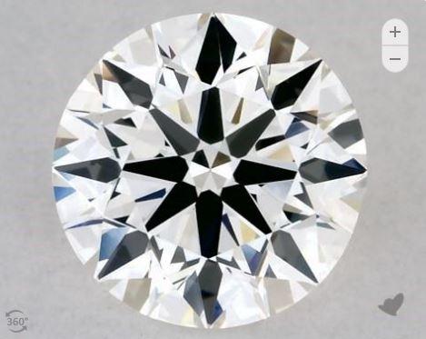 Round cut GIA diamond