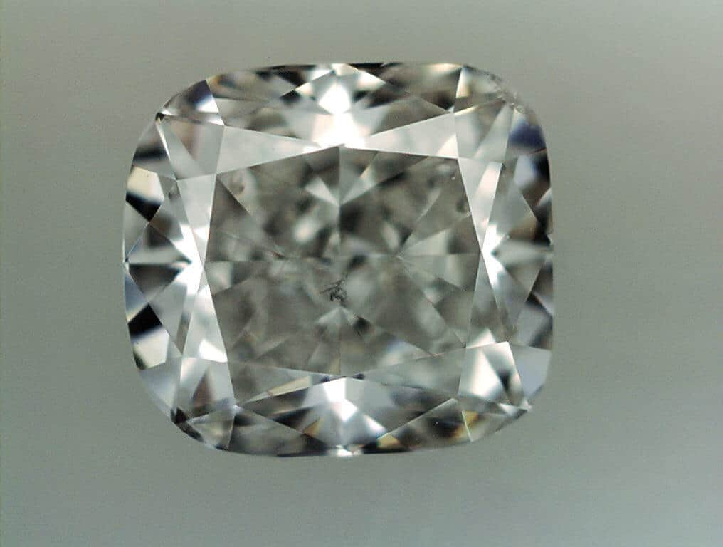Crushed Ice Cushion Cut Diamond Image also called Broken Glass Cushion Cut