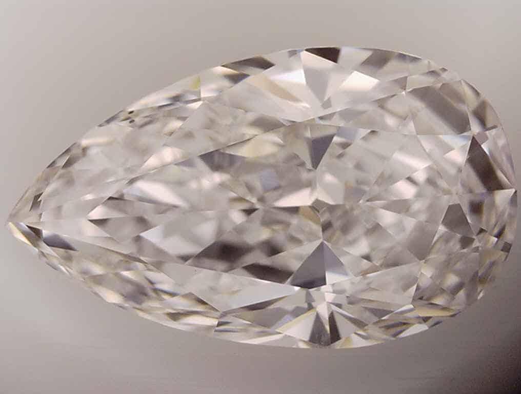 Too Curvy Pear Shape Diamond