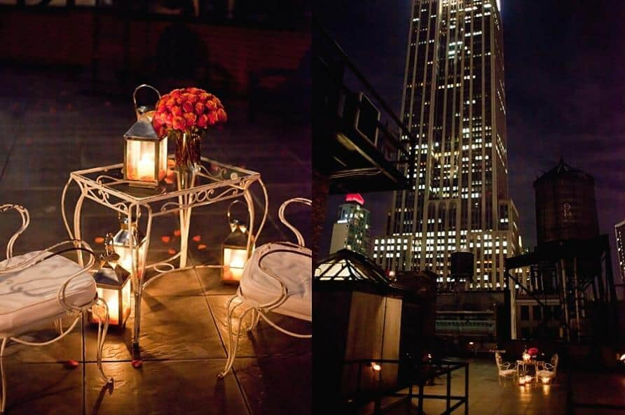 New York Rooftop Proposal.  Photo courtesy Sean Kim Photography